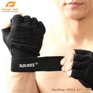 Bộ đôi găng tay tập GYM có cuốn cổ tay Aolikes AL109