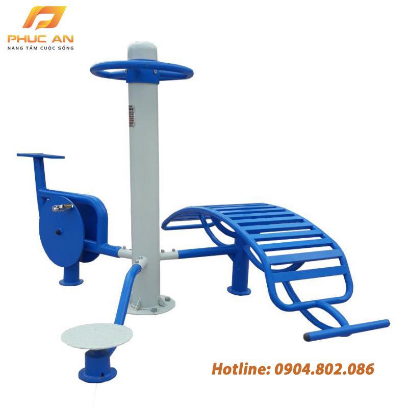 Cụm vận động 3 tập lưng bụng, xoay eo, xe đạp